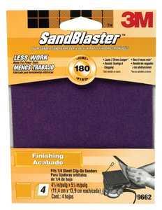 3M 9662 Sandblaster Clip On Palm Sander Finishing Sheet 180 Grit