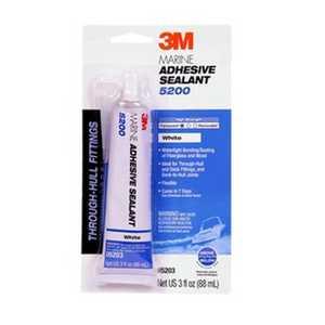 3M 05203 Marine Adhesive Sealant 5200 White, 3 oz