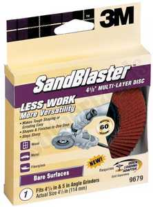 3M 9679 41/2 In Sandblaster Multi Layer Disc 60 Grit