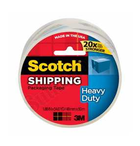 Scotch 3850-1 Heavy Duty Shipping Packaging Tape