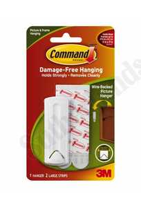 3M 17041 Command Wire Backed Picture Hanging Hooks