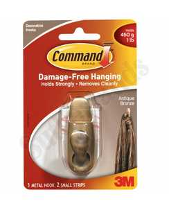 3M FC11-AB Command Forever Classic Antique Bronze Small Metal Hook