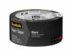 Scotch 1020-BLK-A 1.88-Inch X 20-Yard Black Duct Tape