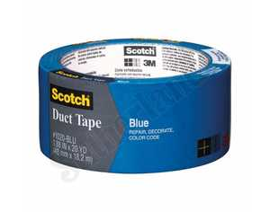 3M 1020-BLU-A Duct Tape 1.88x20yd Blue Scotch