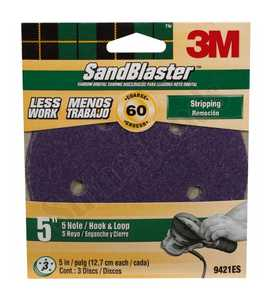 3M 9421ES Disc Hook&loop 5hole 5 In 60grit