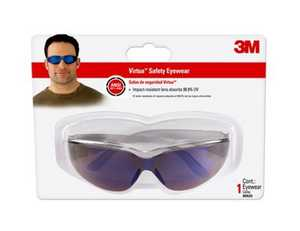 Virtua 90525-80025 Safety Eyewear With Blue Mirror Lens