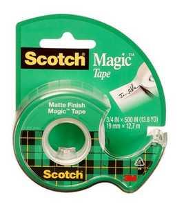 Scotch 3105H Magic Tape Dispenser Rolls, 3pk