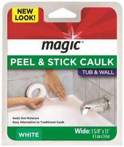 Magic American MC406T Bathtub Caulk Moulding 1-5/8 in x 11 ft White