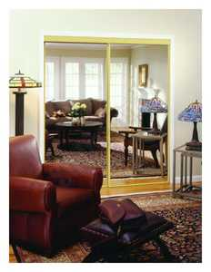 Home Decor Innovations 24-0391 By-Pass Mirror Door Basic 120 Champagne Gold 59x80
