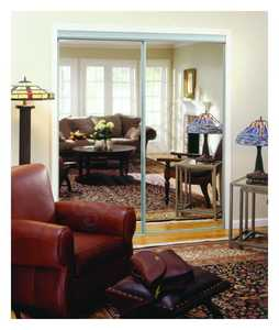 Home Decor Innovations 24-0004 By-Pass Mirror Door Basic 120 Silver 47x80