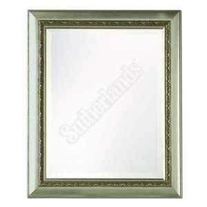 Home Decor Innovations 20-9154 Framed Beveled Mirror Silver 21x25