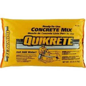 Quikrete 1101-10 Concrete Mix 10lb Quikrete