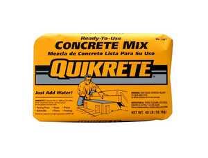 Quikrete 1101-40 Concrete Mix 40lb Quikrete