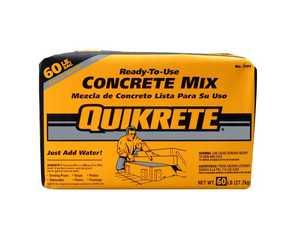 Quikrete 1101-60 Concrete Mix 60lb Quikrete