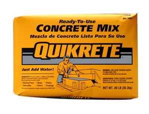 Quikrete 1101-80 Concrete Mix 80lb Quikrete