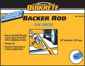 Quikrete 6917-45 Quikrete Backer Rod 3/4 in