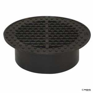 NDS 0660SDB 6 In Round Grate, Black