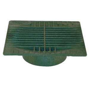 NDS 0962SDG 9 In Square Grate For 6 In Pipe, Green