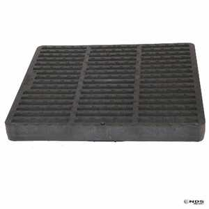 NDS 1202SDB 12 In Square Grate, Black