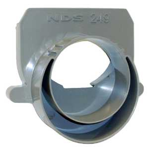 NDS 249 3 In And 4 In Offset End Outlet Gray