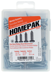 Hillman 41815 Pan Head Phillips Sheet Metal Screws