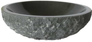 Novatto NOSV-AN Vessel Stone 16 In Round Black Sink