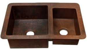Novatto TCK-006AN Copper Kitchen Sink 60/40 Undermount