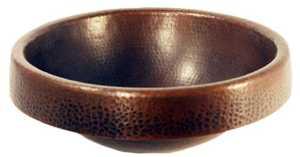 Novatto TCU-014AN Bath Sink Copper Round Apron Ant