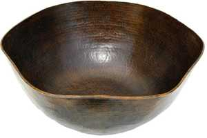 Novatto TCV-005AN Copper Vessel Rippled Antique