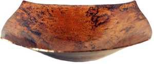 Novatto TCV-007NA Malaga Square Copper Bath Vessel Sink Natural 18 In