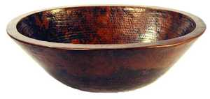 Novatto TCV-010AN Copper Vessel 19 In Oval Antique