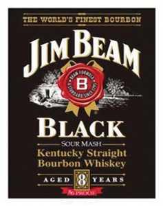 Nostalgic Images BD-1066 Jim Beam Black Metal Sign