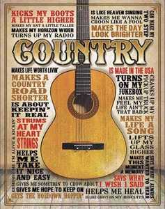 Nostalgic Images CD-2030 Country Metal Sign