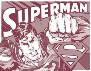 Nostalgic Images PD-1732 Superman Duotone Metal Sign