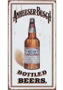 Nostalgic Images BD-1549 Anheuser Busch Bottled Beers Metal Sign