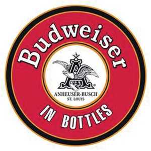 Nostalgic Images BD-1157 Budweiser in Bottles Round Metal Sign