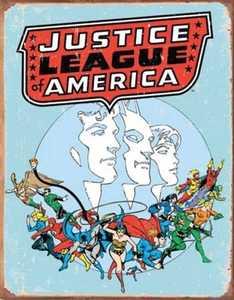 Nostalgic Images PD-1641 Justice League Of America Retro Metal Sign