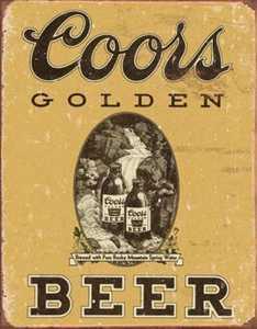 Nostalgic Images BD-1648 Coors Golden Vintage Metal Sign