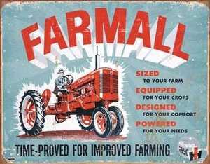 Nostalgic Images TD-1620 Farmall Model A Metal Sign