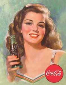 Nostalgic Images CC-1227 Coca-Cola Brunette Metal Sign