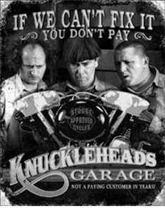 Nostalgic Images PD-1687 The Three Stooges Knuckleheads Garage Metal Sign