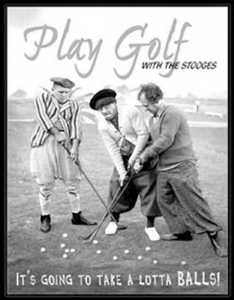 Nostalgic Images PD-951 The Three Stooges Play Golf Metal Sign