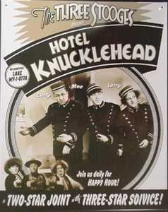Nostalgic Images PG-506 The Three Stooges Hotel Knucklehead Metal Sign
