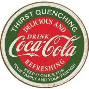 Nostalgic Images CC-1659 Coca-Cola Thirst Quenching Metal Sign