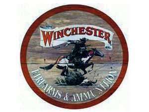 Nostalgic Images OD-975 Winchester Firearms And Ammunition Round Metal Sign