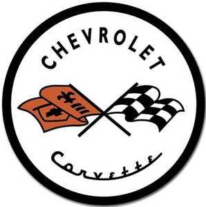 Nostalgic Images TD-1797 Chevrolet Corvette 1953 Logo Round Metal Sign