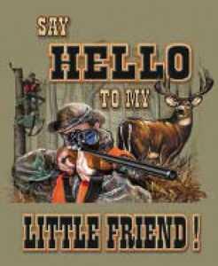 Nostalgic Images OG-778 Say Hello To My Little Friend Metal Sign