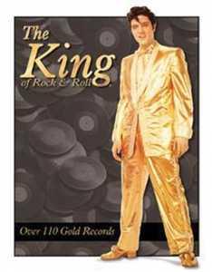 Nostalgic Images PD-879 Elvis Presley Gold Records Metal Sign