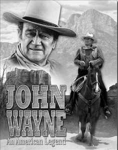 Nostalgic Images PD-1748 John Wayne An American Legend Metal Sign