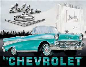 Nostalgic Images TD-1760 Chevrolet 1957 Bel Air Metal Sign